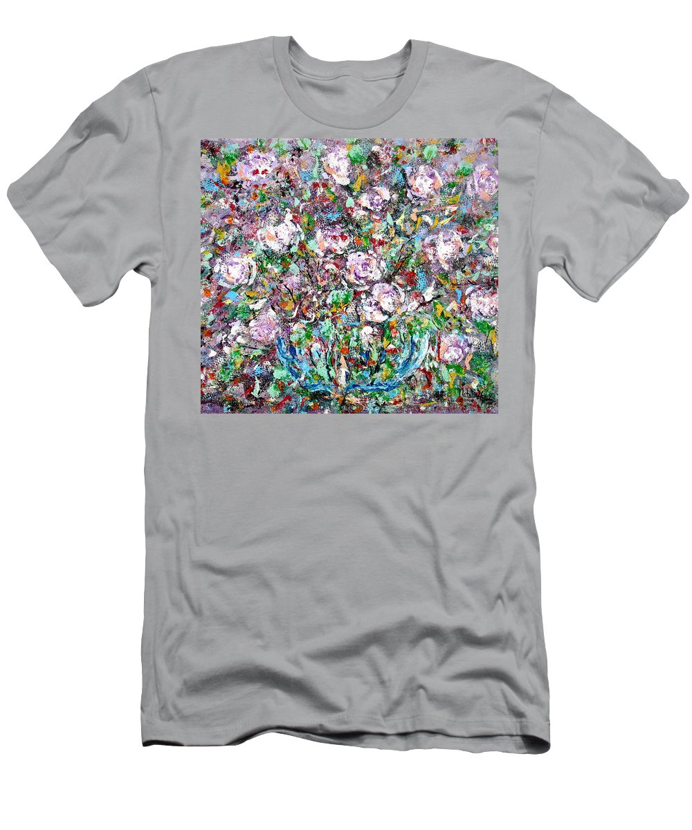 Abstract Men's T-Shirt (Athletic Fit) featuring the painting Purple Passions by Natalie Holland