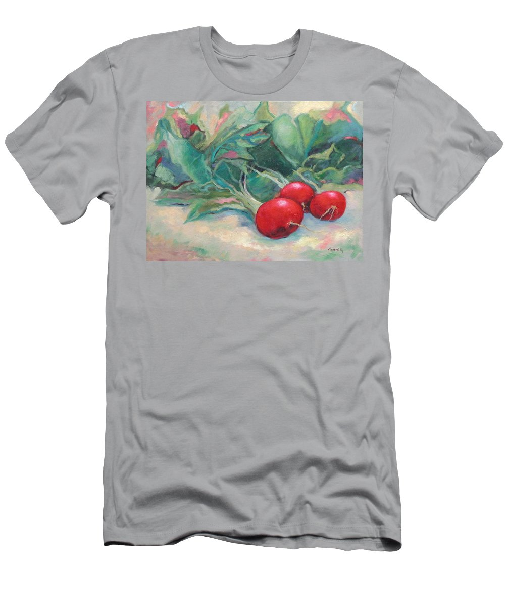 Radishes Men's T-Shirt (Athletic Fit) featuring the painting Radishes by Ginger Concepcion