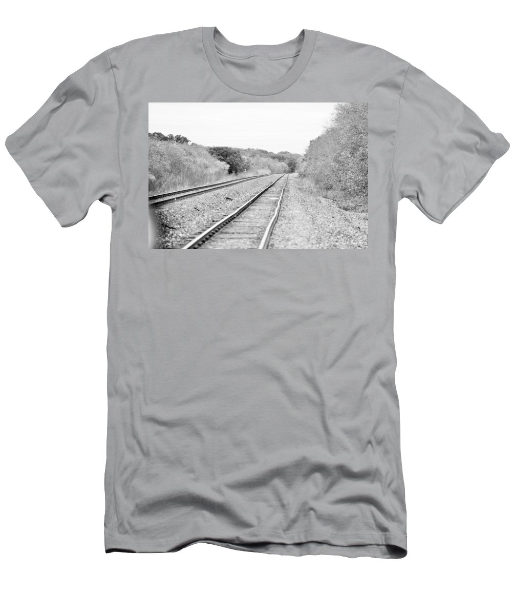 Men's T-Shirt (Athletic Fit) featuring the photograph Rails 004 by Jeff Downs