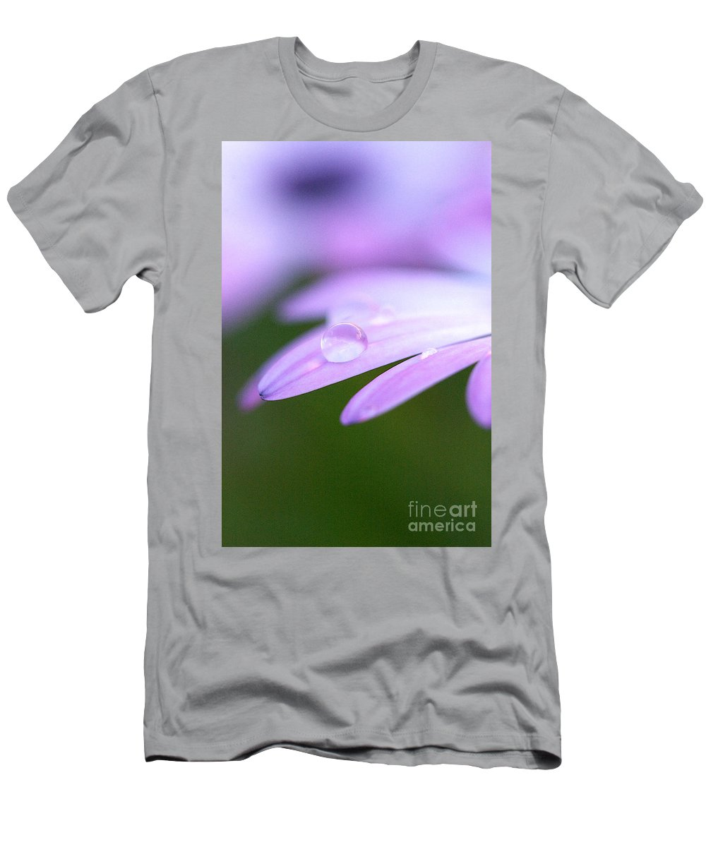 Rain Men's T-Shirt (Athletic Fit) featuring the photograph Rain Droplets On A Daisy by Brooke Roby