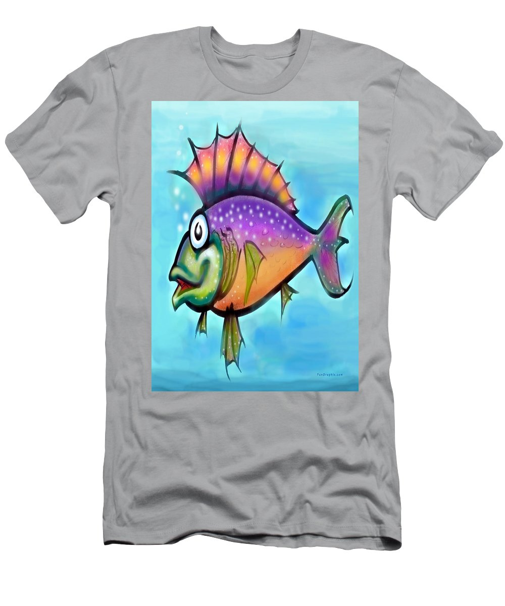 Fish Men's T-Shirt (Athletic Fit) featuring the greeting card Rainbow Fish by Kevin Middleton