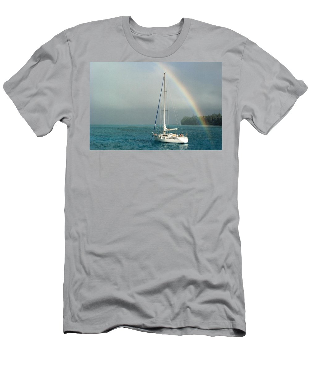 Charity Men's T-Shirt (Athletic Fit) featuring the photograph Rainbow by Mary-Lee Sanders
