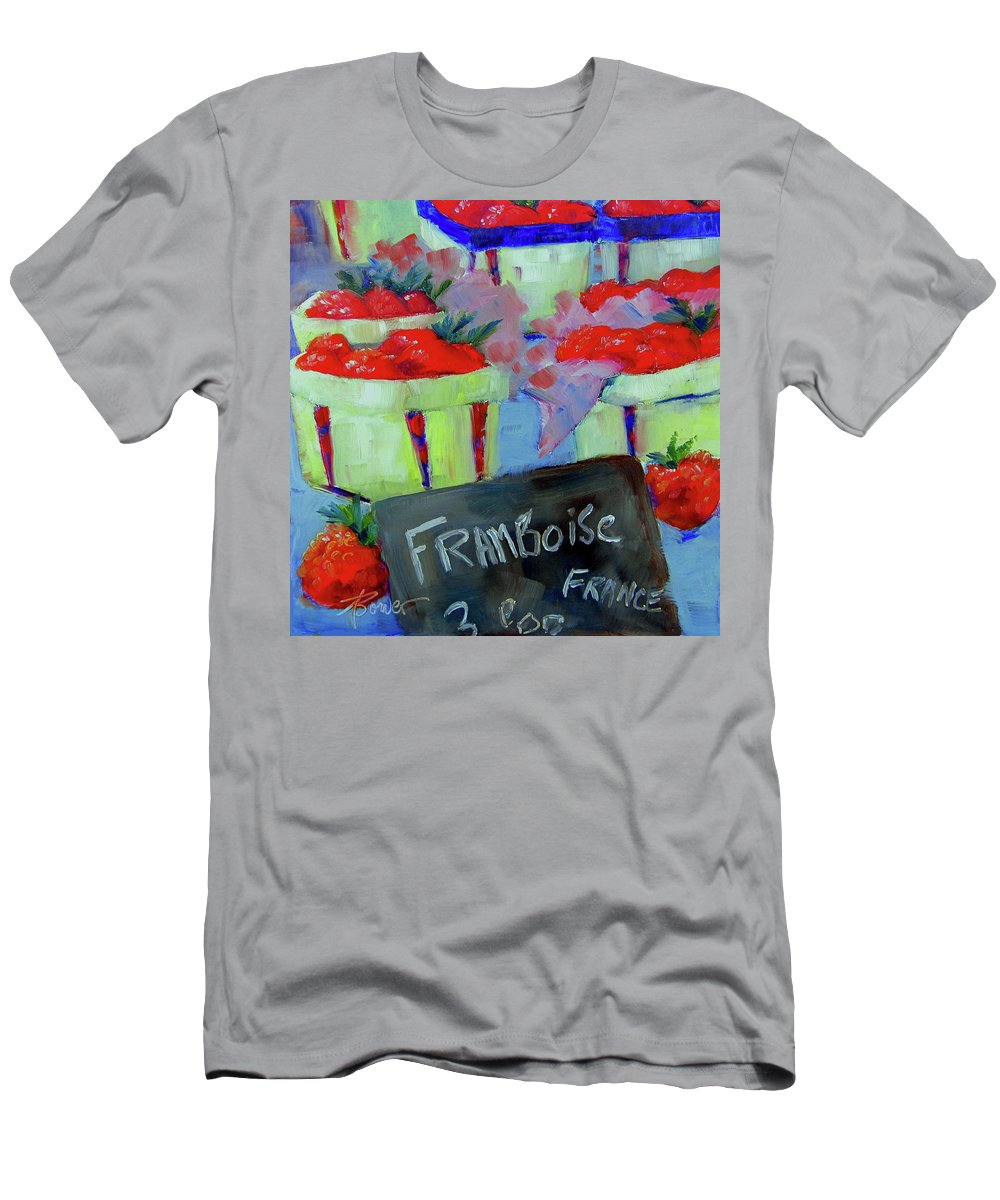 Raspberries Men's T-Shirt (Athletic Fit) featuring the painting Raspberries Provencal by Adele Bower