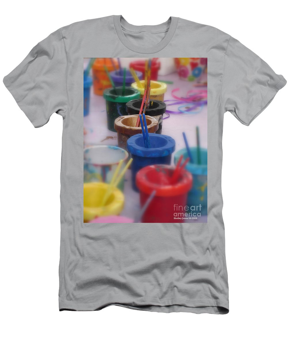 Painting Men's T-Shirt (Athletic Fit) featuring the photograph Ready  Set  Paint by Shelley Jones