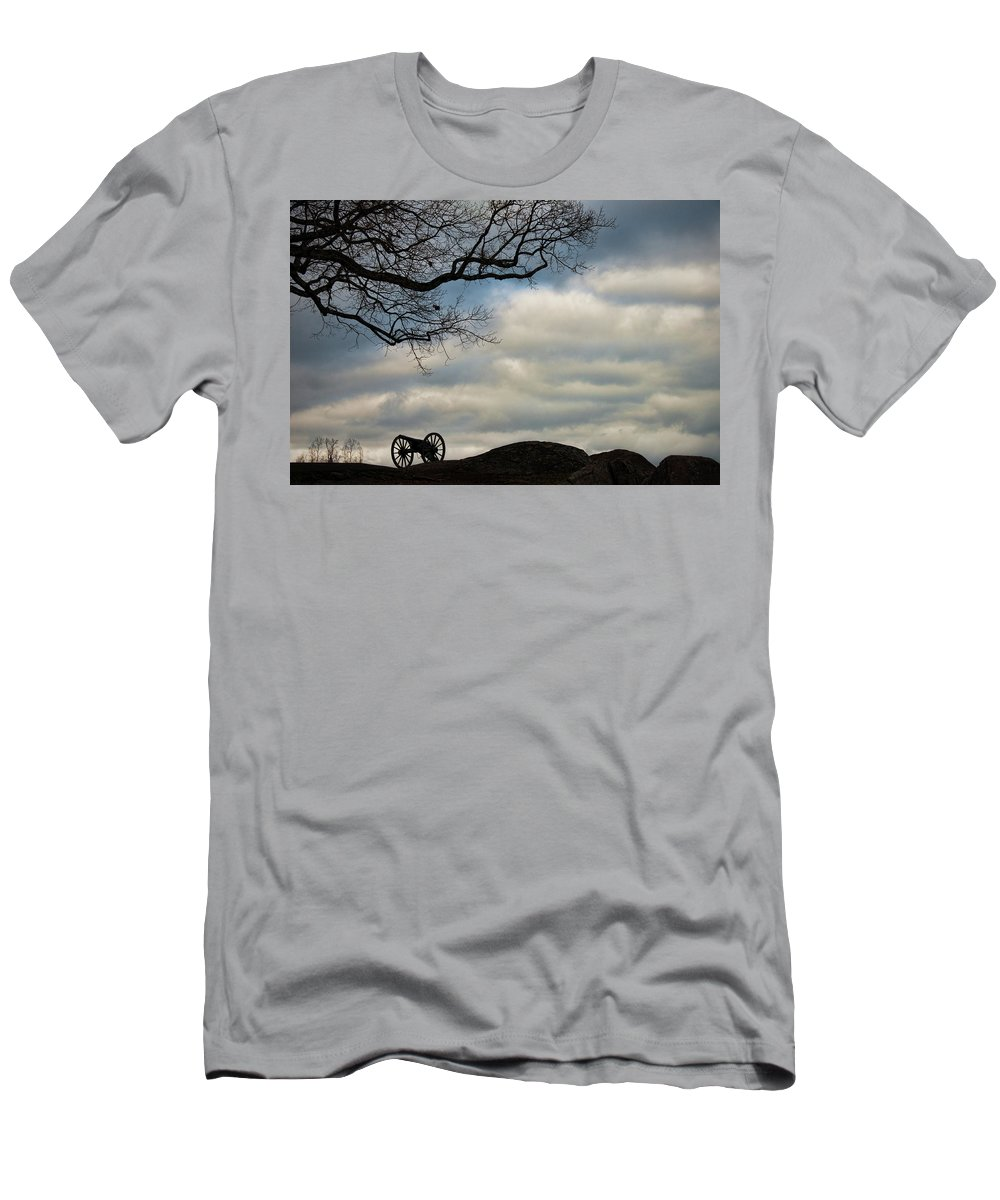 Cannon Men's T-Shirt (Athletic Fit) featuring the photograph Reap The Wind by David Arment