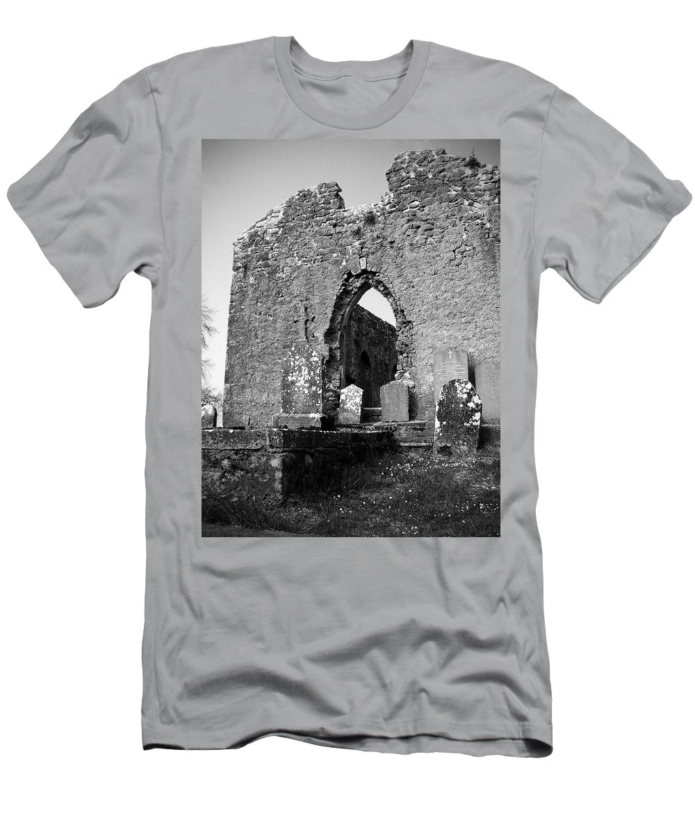 Ireland Men's T-Shirt (Athletic Fit) featuring the photograph Rear Entrance Fuerty Church Roscommon Ireland by Teresa Mucha