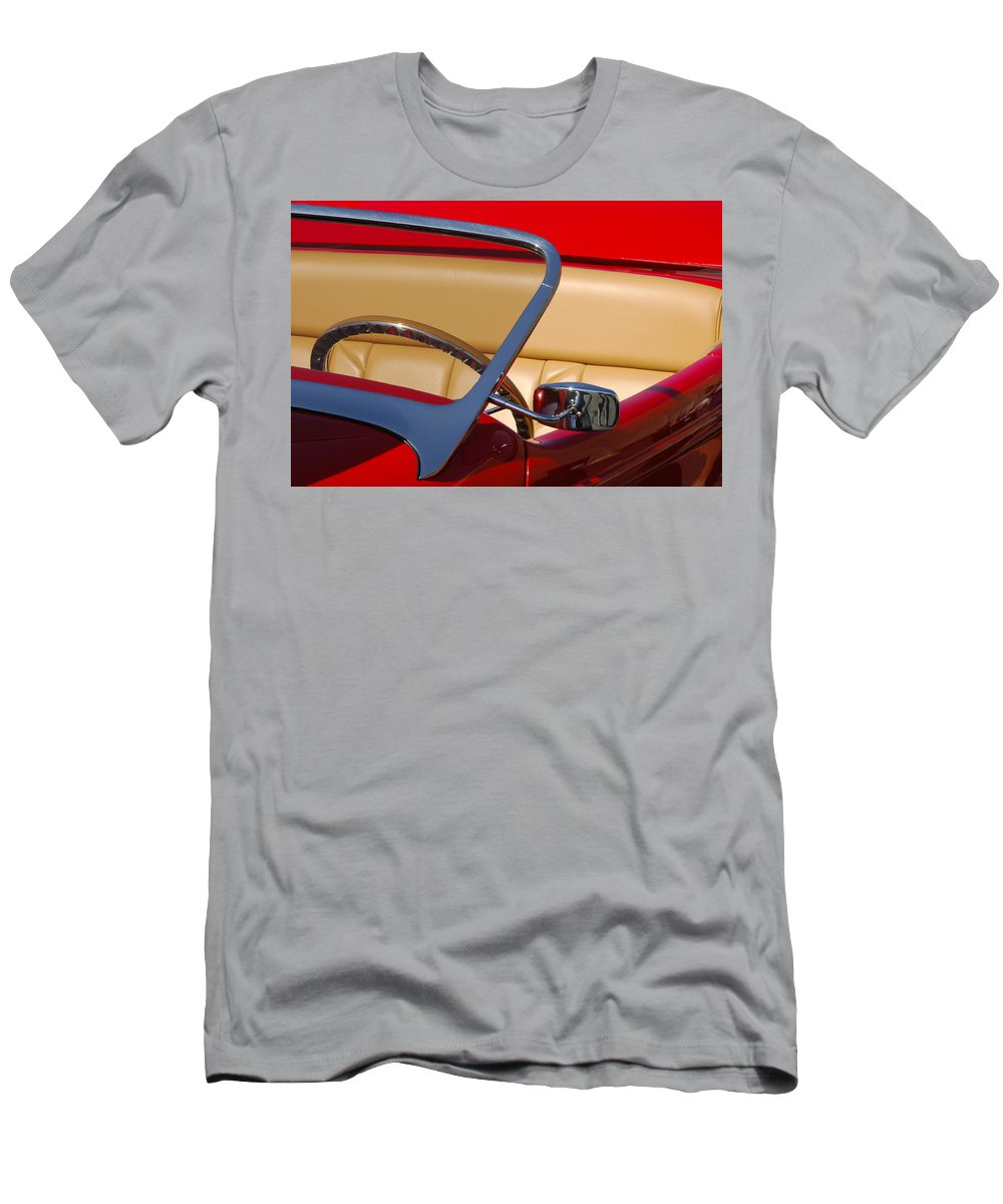 Car Men's T-Shirt (Athletic Fit) featuring the photograph Red Hot Rod by Jill Reger