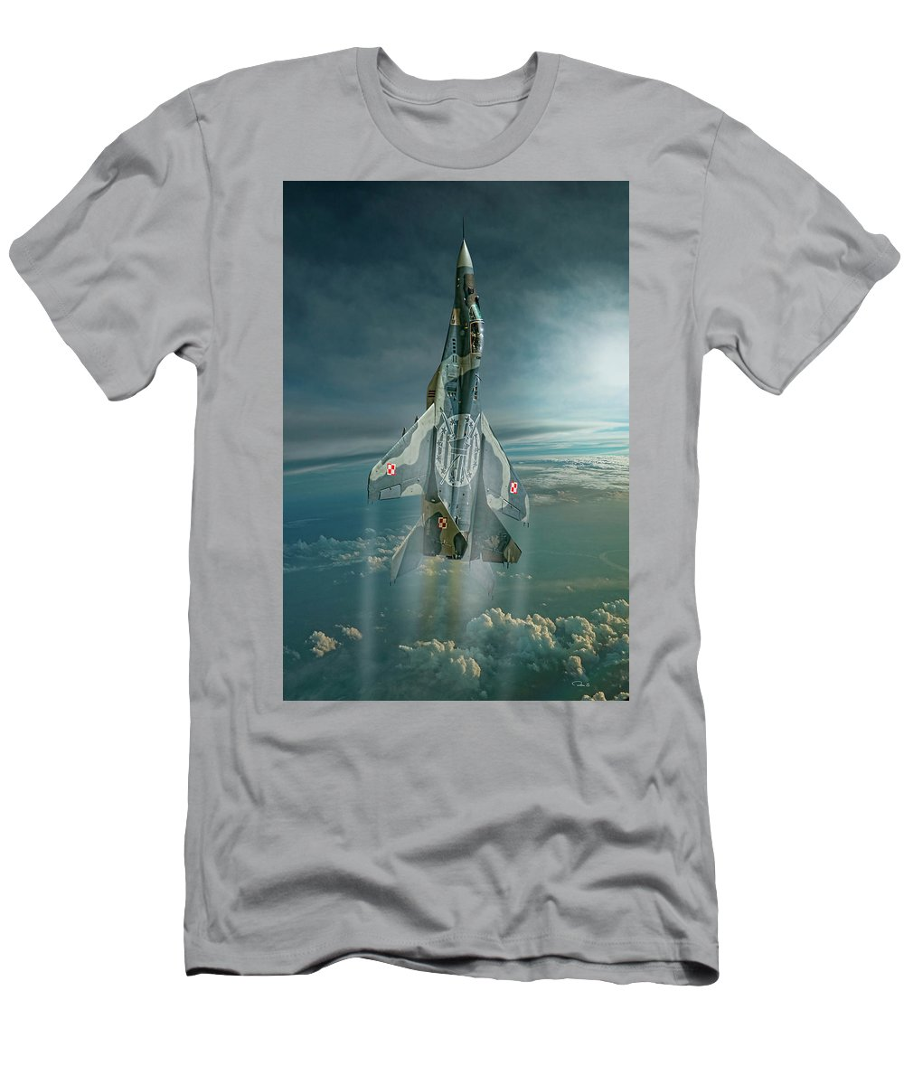 Aviation Men's T-Shirt (Athletic Fit) featuring the digital art Special Mig by Peter Scheelen