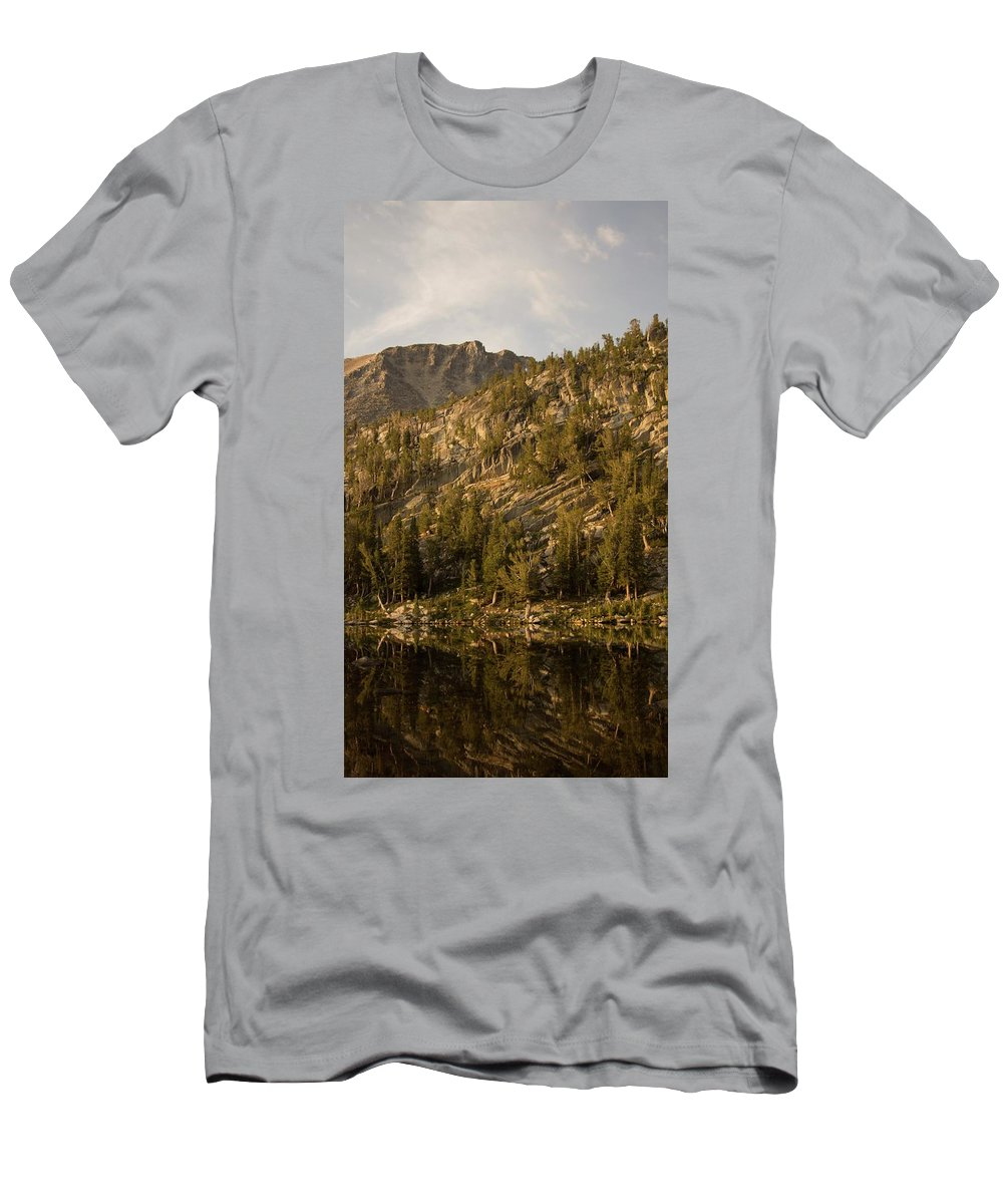 Light Men's T-Shirt (Athletic Fit) featuring the photograph Reflecting Thoughts by Peter Mora-Stevens
