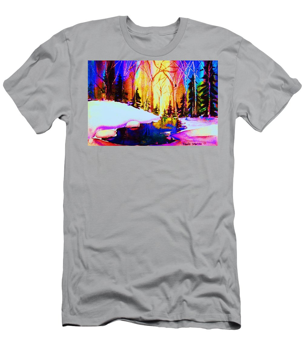 Reflections Men's T-Shirt (Athletic Fit) featuring the painting Reflection by Carole Spandau