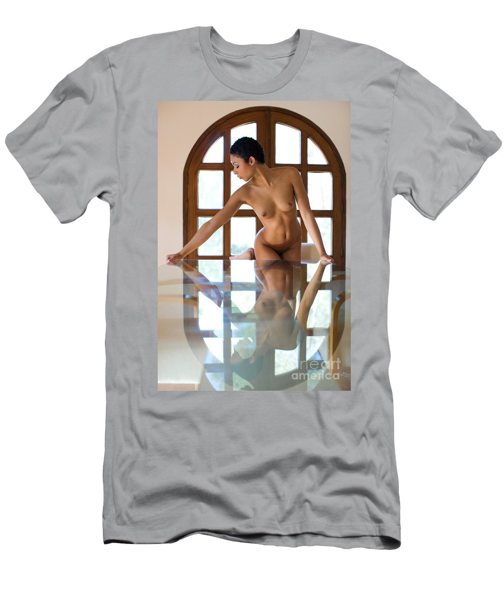 Sensual Men's T-Shirt (Athletic Fit) featuring the photograph Reflection Time Again by Olivier De Rycke