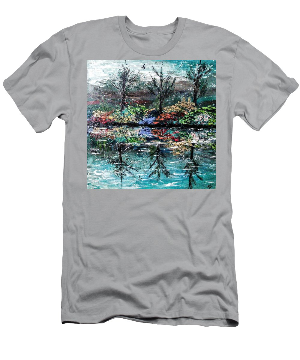 Woods T-Shirt featuring the painting Reflections by Valerie Josi