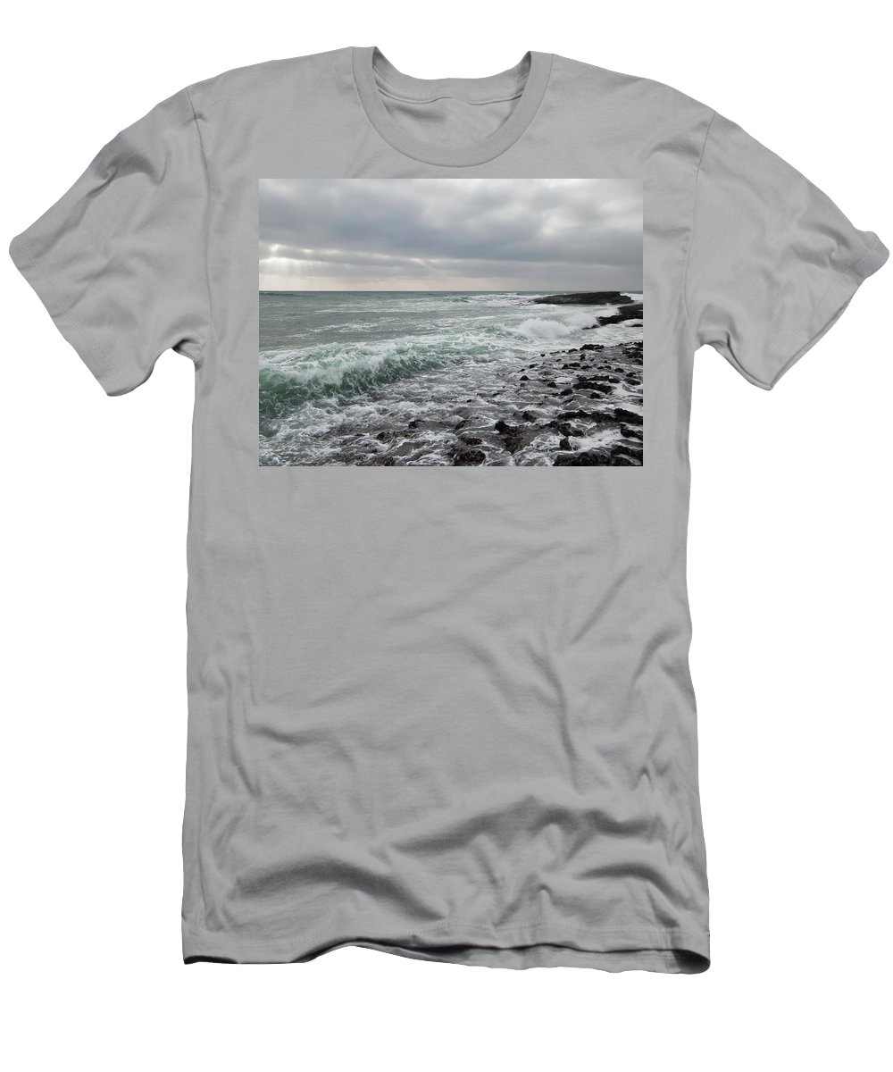 Reflux Men's T-Shirt (Athletic Fit) featuring the photograph Reflux by Edgar Laureano