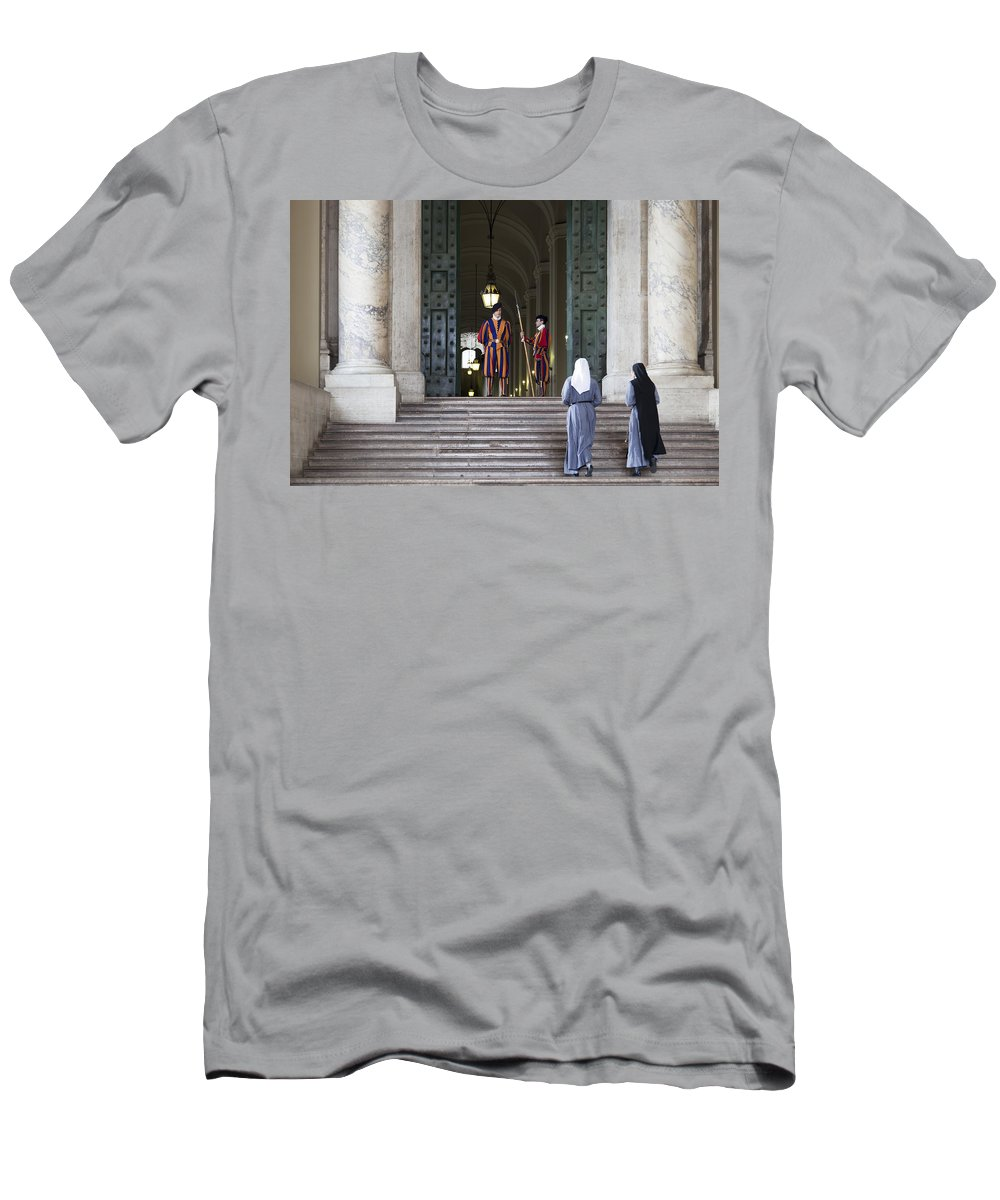 Italy Men's T-Shirt (Athletic Fit) featuring the photograph Religious Visit by Janet Fikar