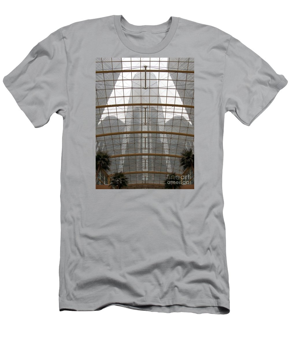 Detroit Men's T-Shirt (Athletic Fit) featuring the photograph Rencen From Within by Ann Horn