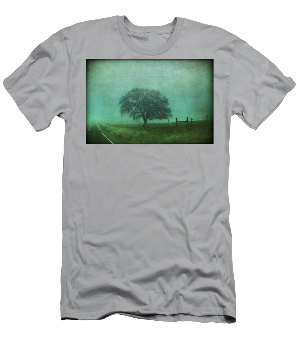 Road Men's T-Shirt (Athletic Fit) featuring the photograph Resolution by Laurie Search