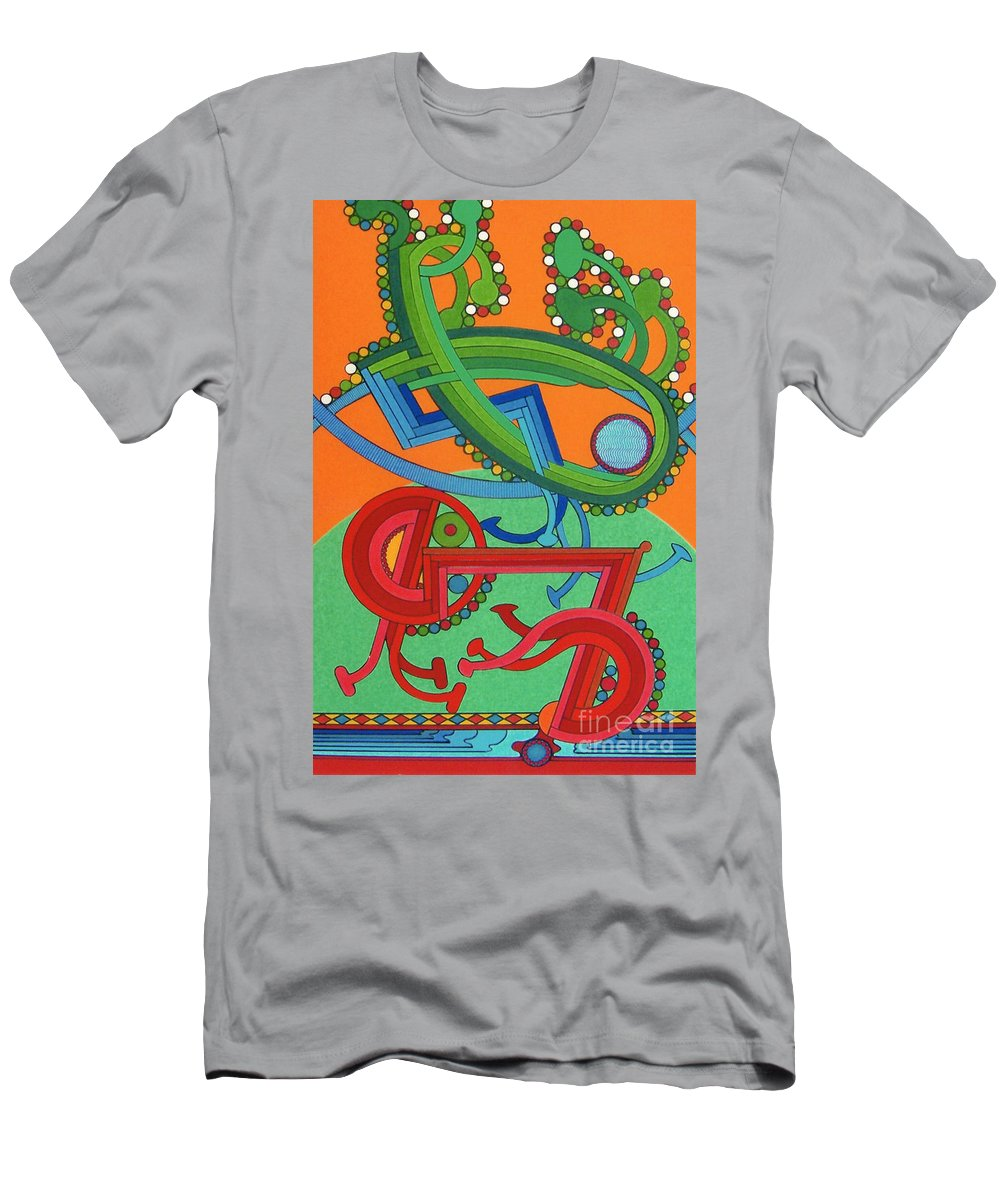 Harvest Rising Men's T-Shirt (Athletic Fit) featuring the drawing Rfb0430 by Robert F Battles