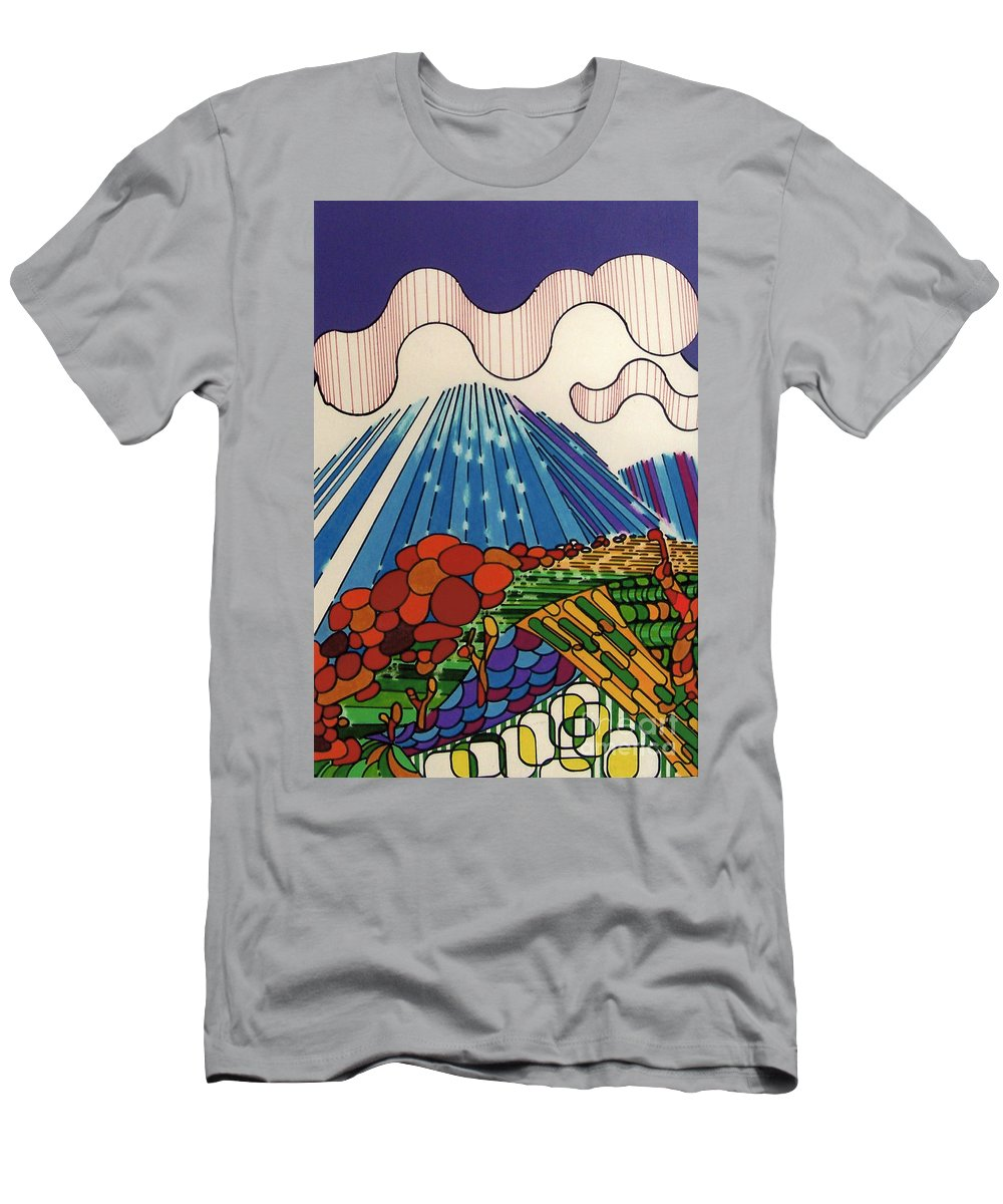 Tidal Wave Men's T-Shirt (Athletic Fit) featuring the drawing Rfb0523 by Robert F Battles