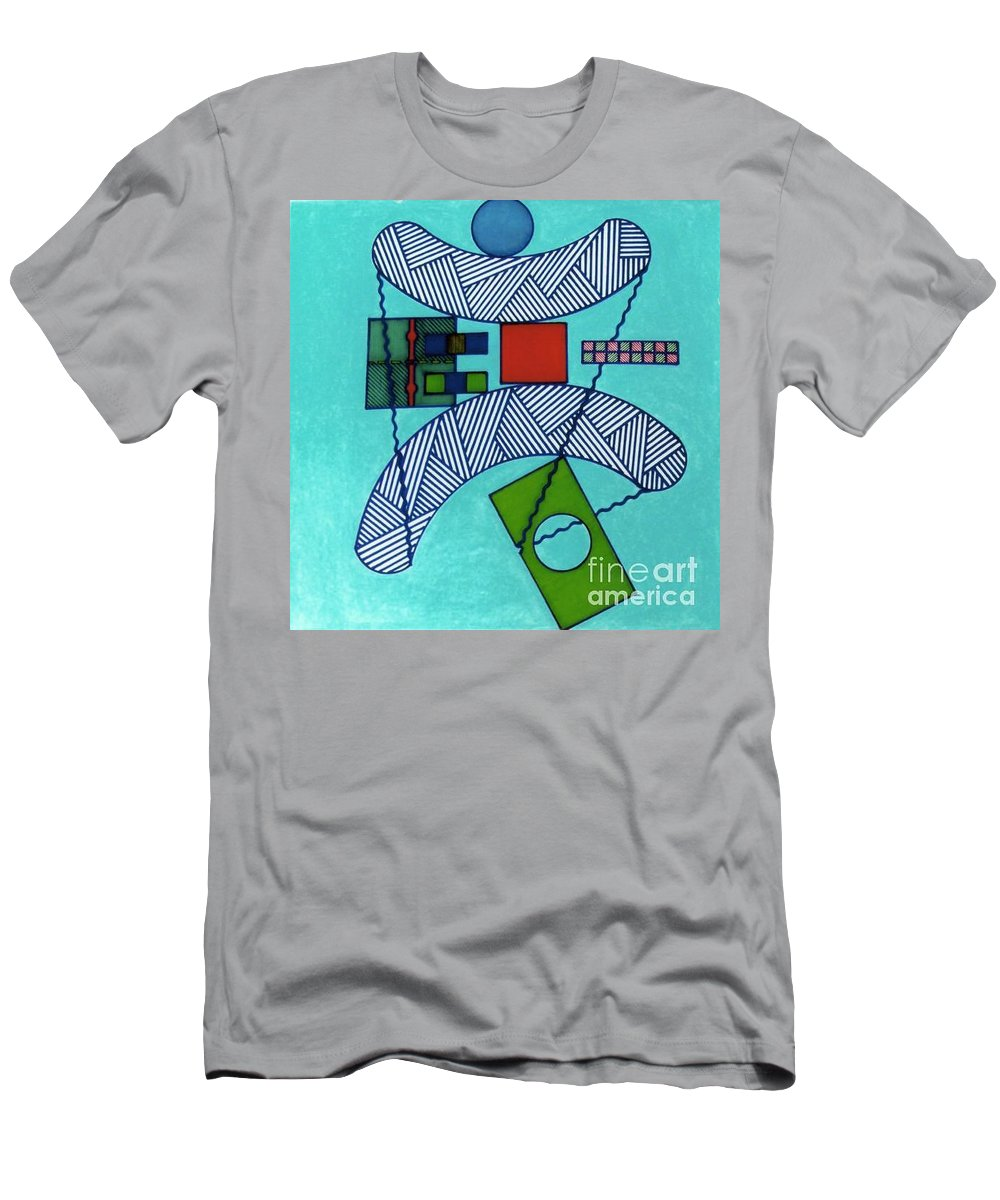 Blue Balance Men's T-Shirt (Athletic Fit) featuring the drawing Rfb0555 by Robert F Battles