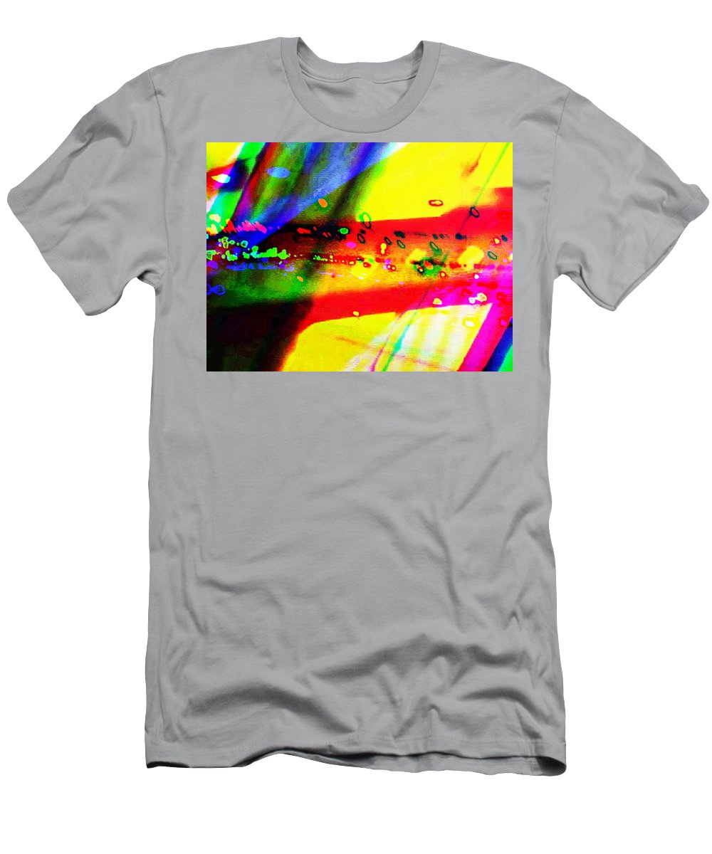 Art Digital Art Men's T-Shirt (Athletic Fit) featuring the digital art Rgb3a - York by Alex Porter