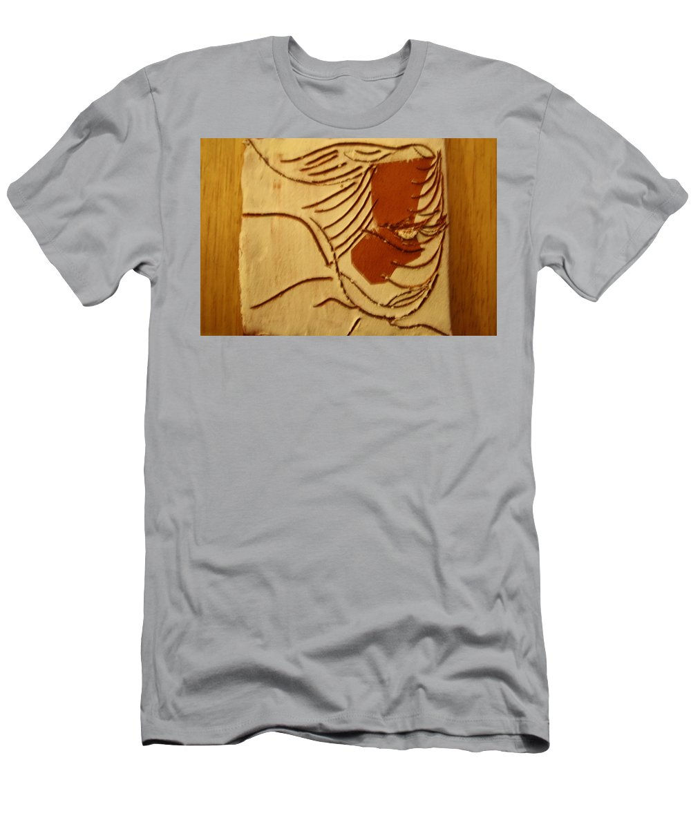 Jesus Men's T-Shirt (Athletic Fit) featuring the ceramic art Rhoda - Tile by Gloria Ssali