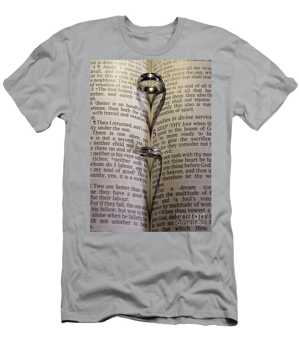 Rings Men's T-Shirt (Athletic Fit) featuring the photograph Rings From The Heart by Jennifer Craft