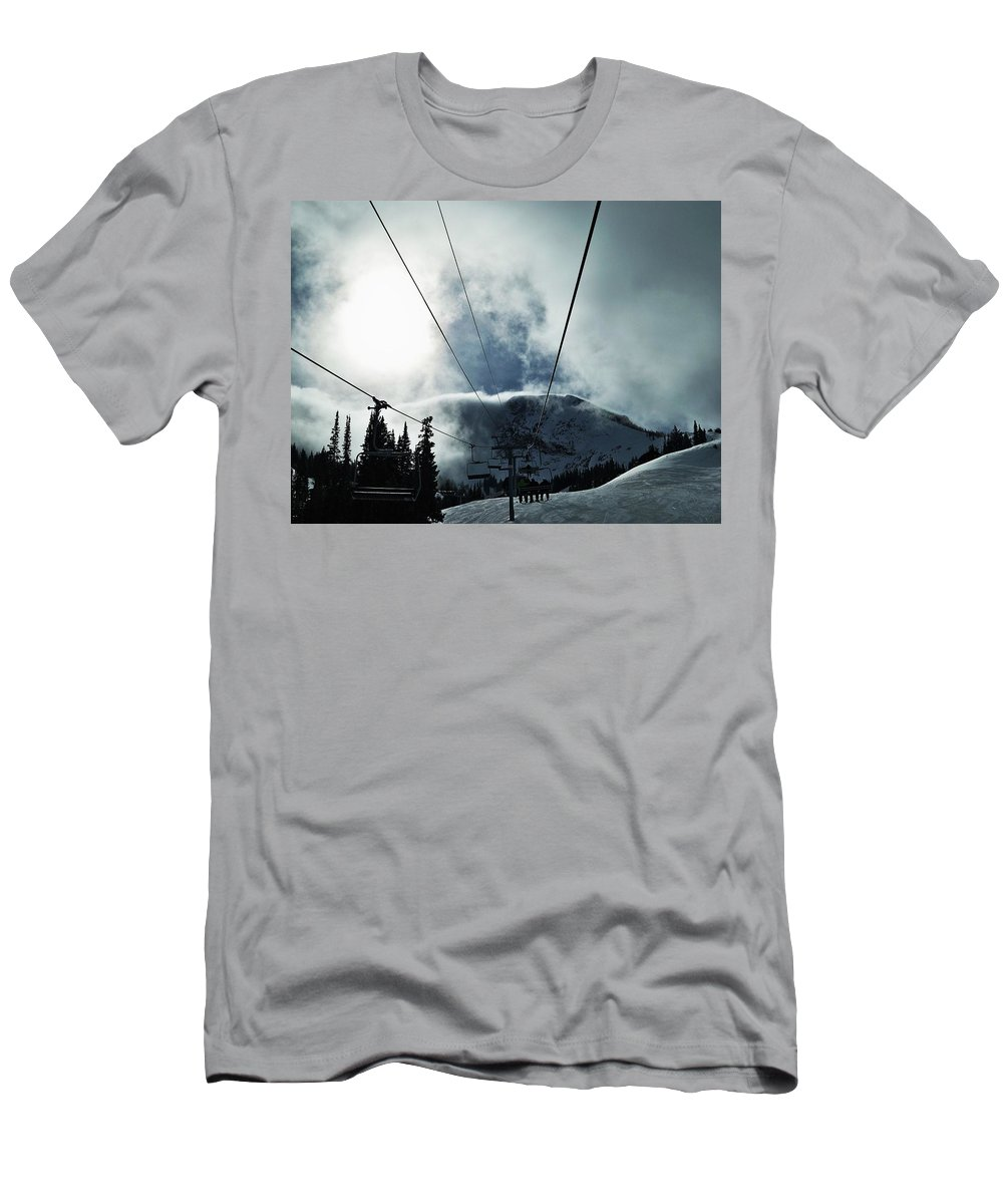 Landscape Men's T-Shirt (Athletic Fit) featuring the photograph Rise To The Sun by Michael Cuozzo