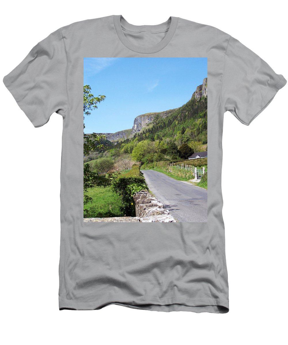 Irish Men's T-Shirt (Athletic Fit) featuring the photograph Road To Benbulben County Leitrim Ireland by Teresa Mucha