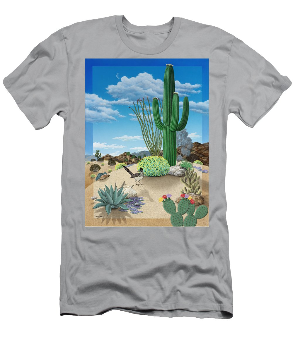 Roadrunner T-Shirt featuring the painting Roadrunner by Snake Jagger