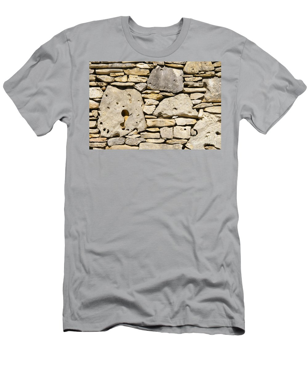 Wimberley Texas Rock Rocks Stone Stones Odds And Ends Pattern Patterns Shape Shapes Men's T-Shirt (Athletic Fit) featuring the photograph Rock Architecture Four by Bob Phillips
