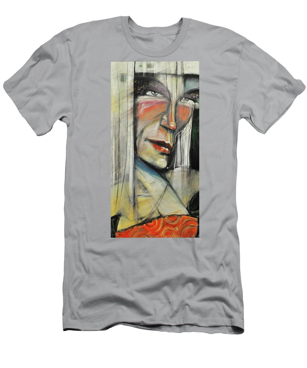 Woman Men's T-Shirt (Athletic Fit) featuring the painting Rock Diva Or Pris by Tim Nyberg