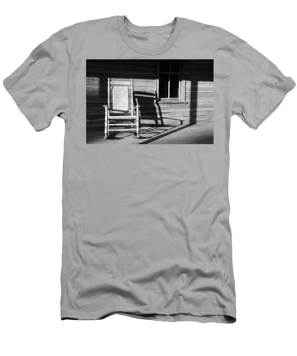 Rocking Chair Men's T-Shirt (Athletic Fit) featuring the photograph Rocking Chair Work A by David Lee Thompson