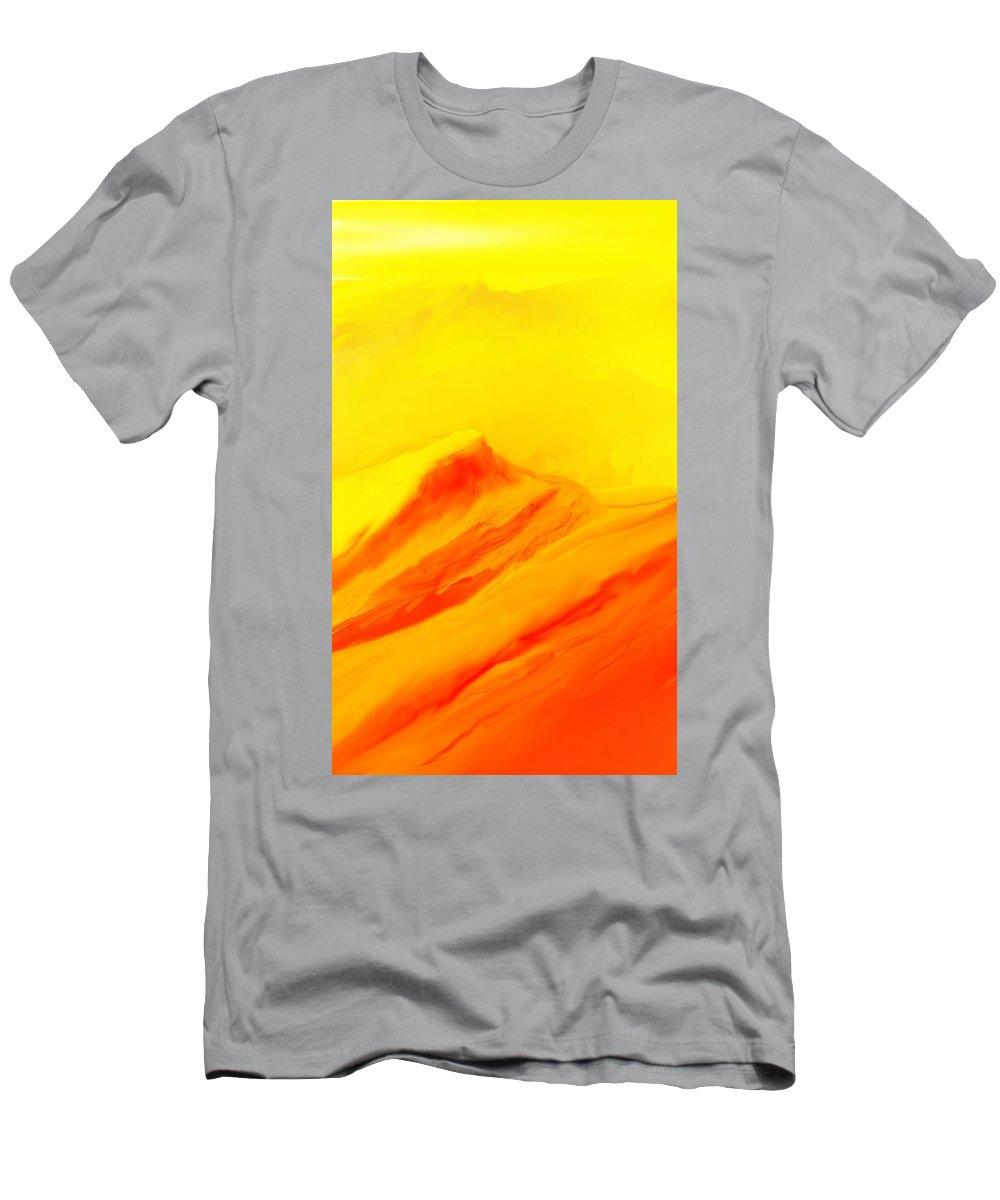 Landscape Men's T-Shirt (Athletic Fit) featuring the digital art Rocky Landscape 122010 by David Lane