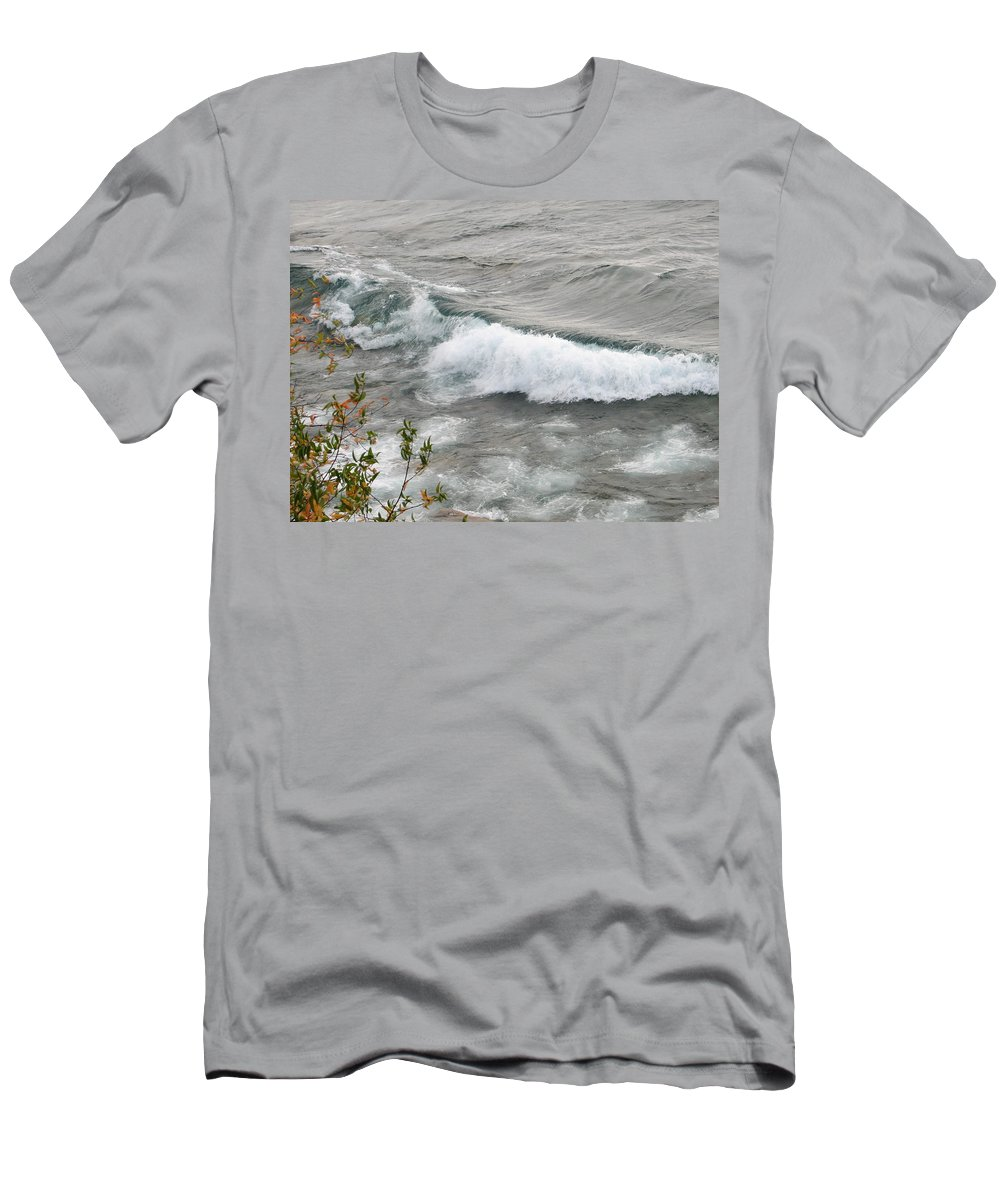 Wave Men's T-Shirt (Athletic Fit) featuring the photograph Rolling by Kelly Mezzapelle