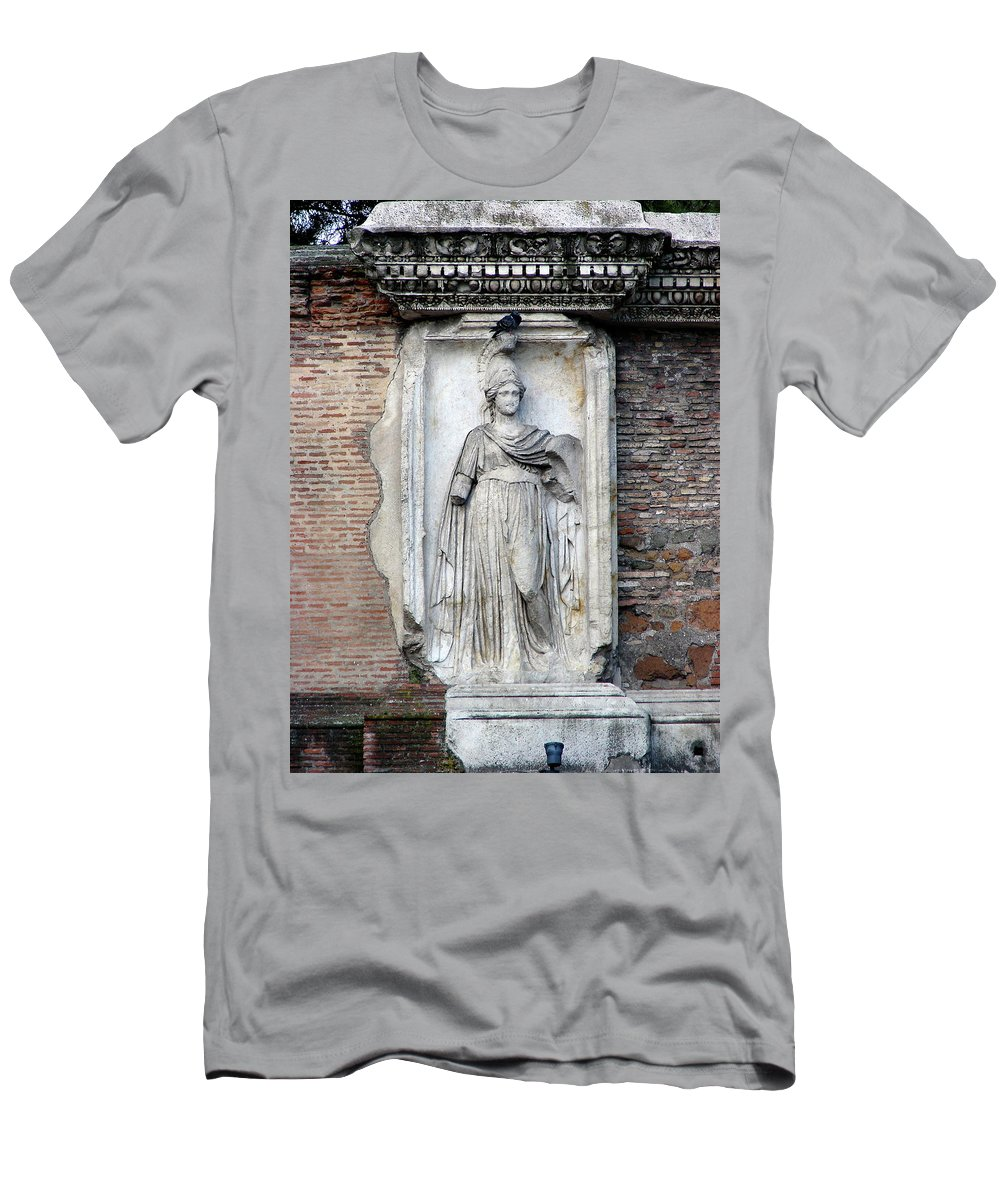Rome Men's T-Shirt (Athletic Fit) featuring the photograph Rome Italy Statue by Brett Winn