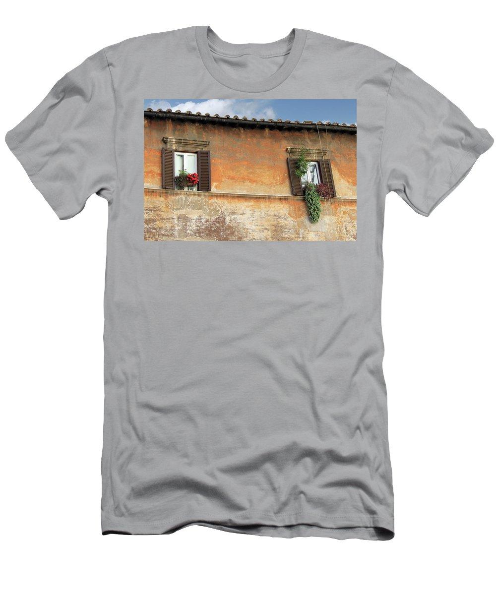 Window T-Shirt featuring the photograph Rome Windows by Munir Alawi