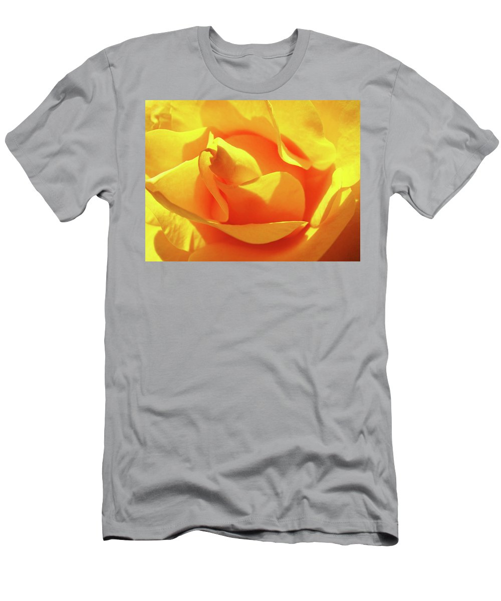 Rose T-Shirt featuring the photograph ROSE Bright Orange Sunny Rose Flower Floral Baslee Troutman by Patti Baslee