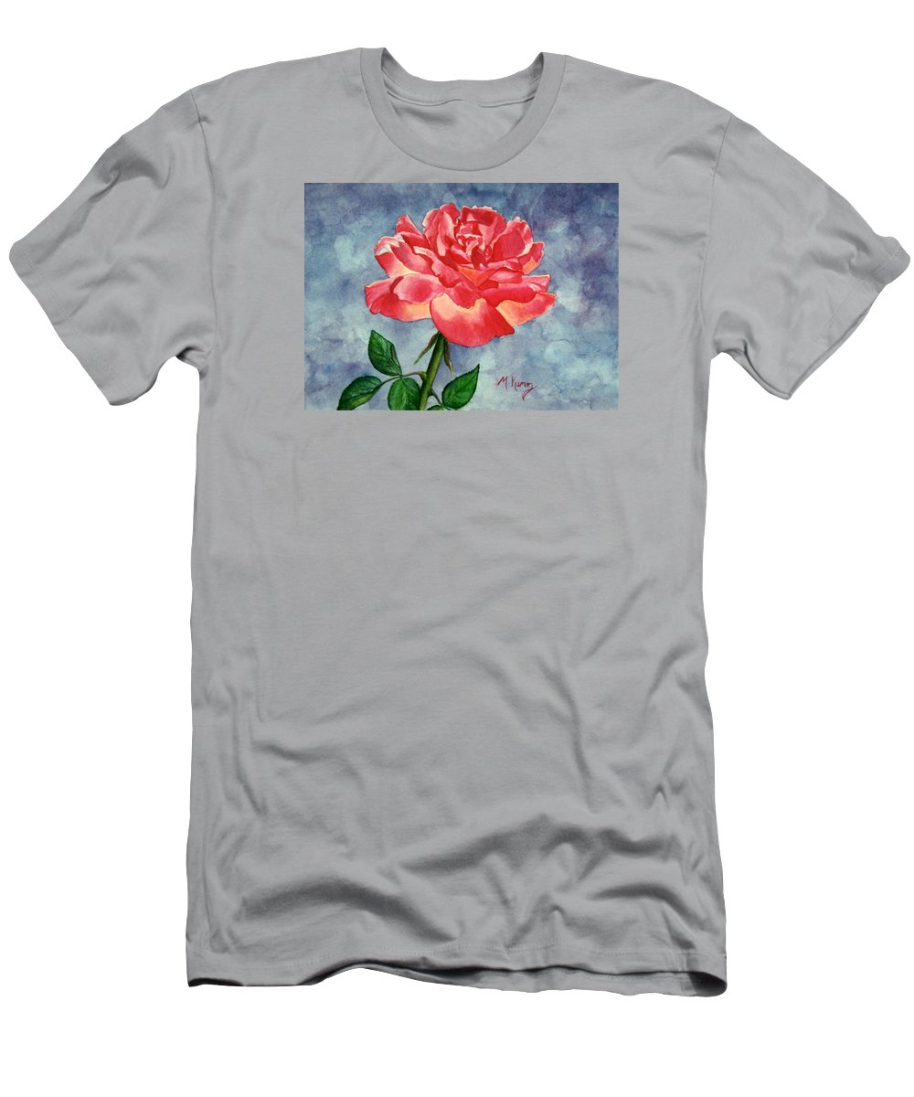 Rose Men's T-Shirt (Athletic Fit) featuring the painting Rose by Melissa Joyfully