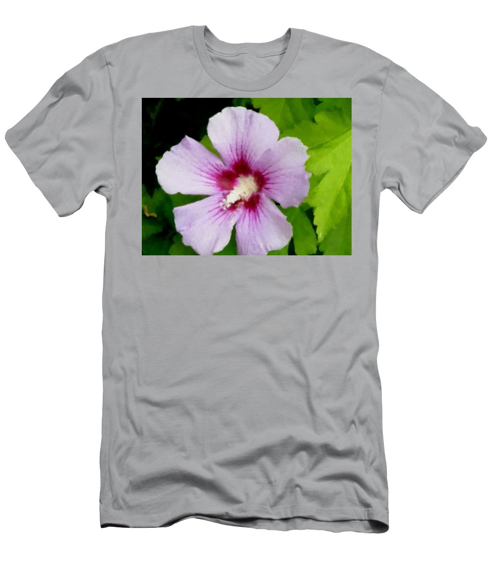 Flower Men's T-Shirt (Athletic Fit) featuring the digital art Rose Of Sharon Close Up by Anita Burgermeister