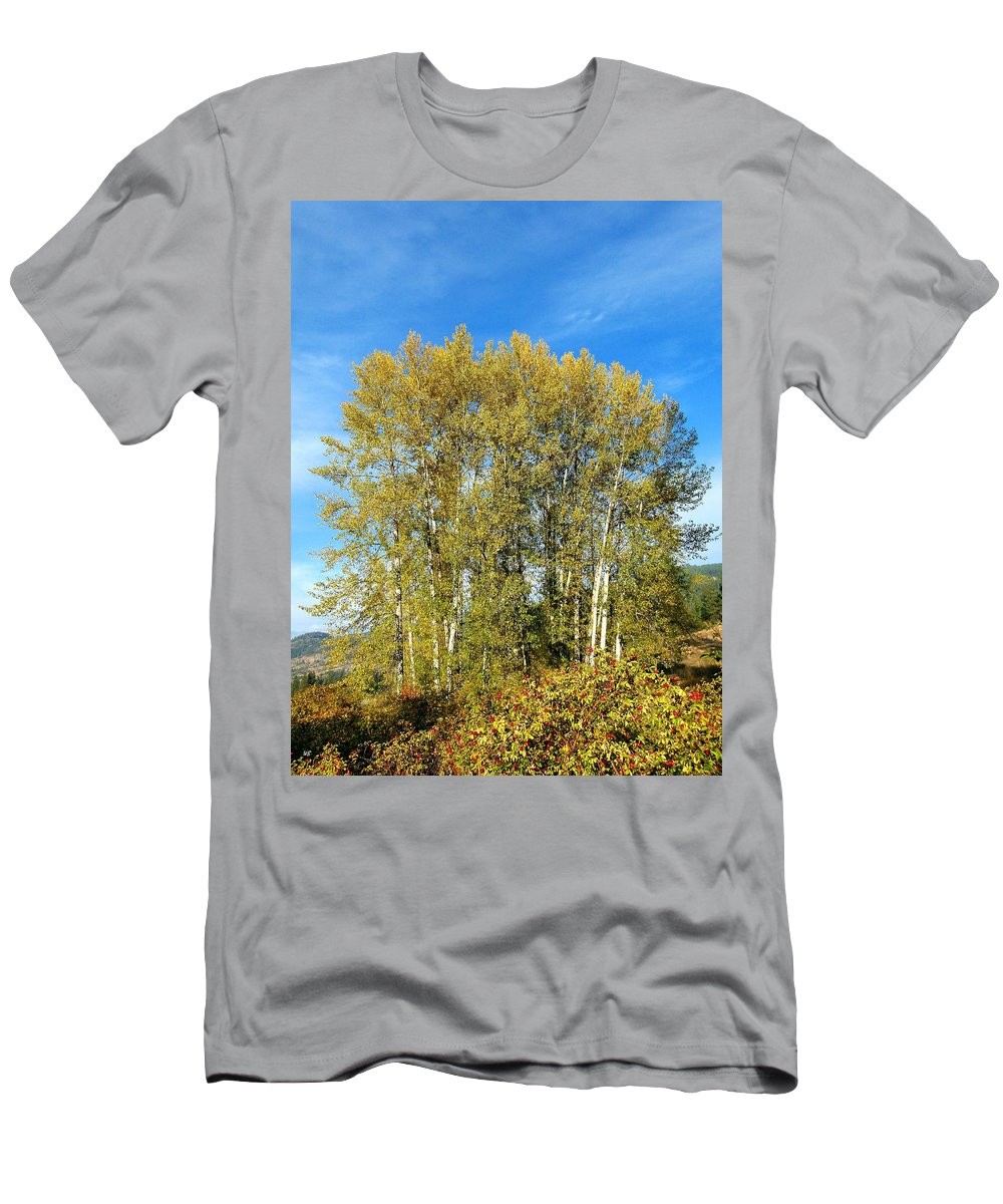#rosehipsandcottonwoods Men's T-Shirt (Athletic Fit) featuring the photograph Rosehips And Cottonwoods by Will Borden