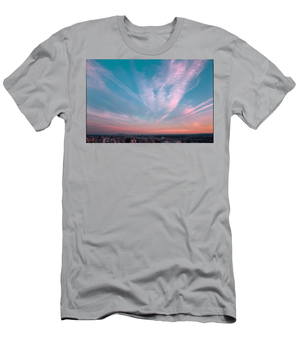 Beautiful Los Angeles Men's T-Shirt (Athletic Fit) featuring the photograph Runyon Canyon One by Richard Lund