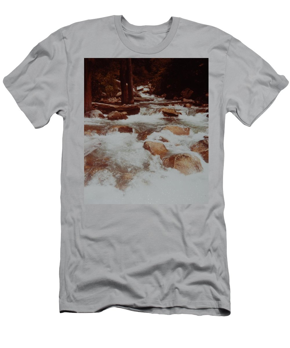 Water Men's T-Shirt (Athletic Fit) featuring the photograph Rushing Water by Rob Hans