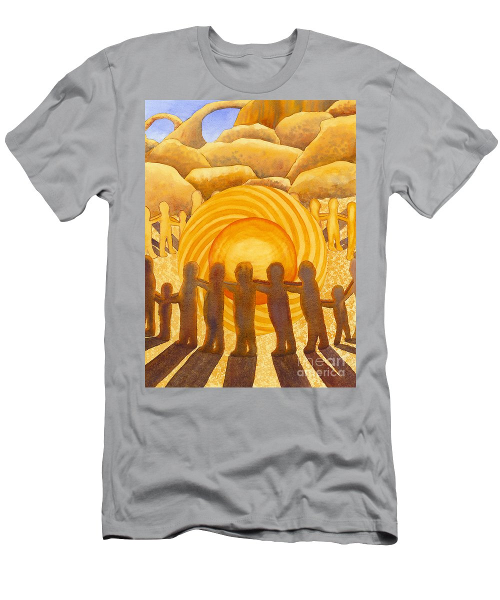 Chakra Men's T-Shirt (Athletic Fit) featuring the painting Sacral Chakra by Catherine G McElroy