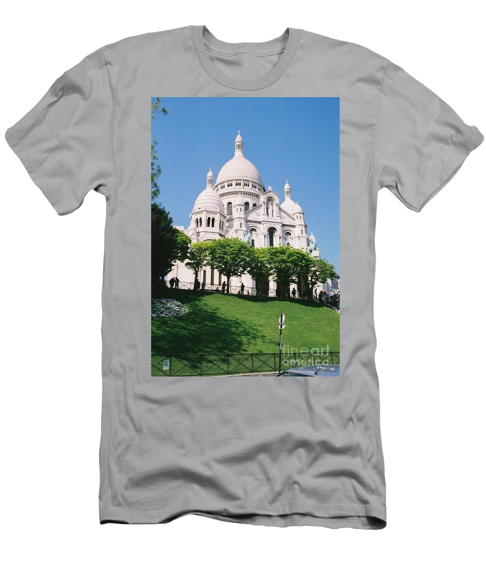 Church Men's T-Shirt (Athletic Fit) featuring the photograph Sacre Coeur by Nadine Rippelmeyer