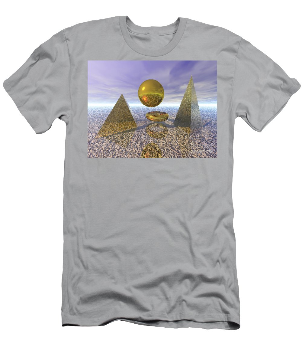 Meditation Men's T-Shirt (Athletic Fit) featuring the digital art Sacred Geometry by Oscar Basurto Carbonell