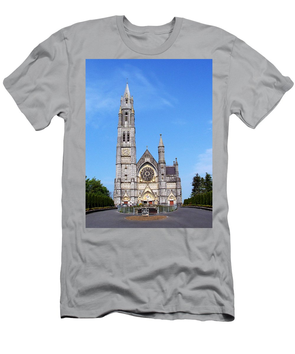 Ireland Men's T-Shirt (Athletic Fit) featuring the photograph Sacred Heart Church Roscommon Ireland by Teresa Mucha