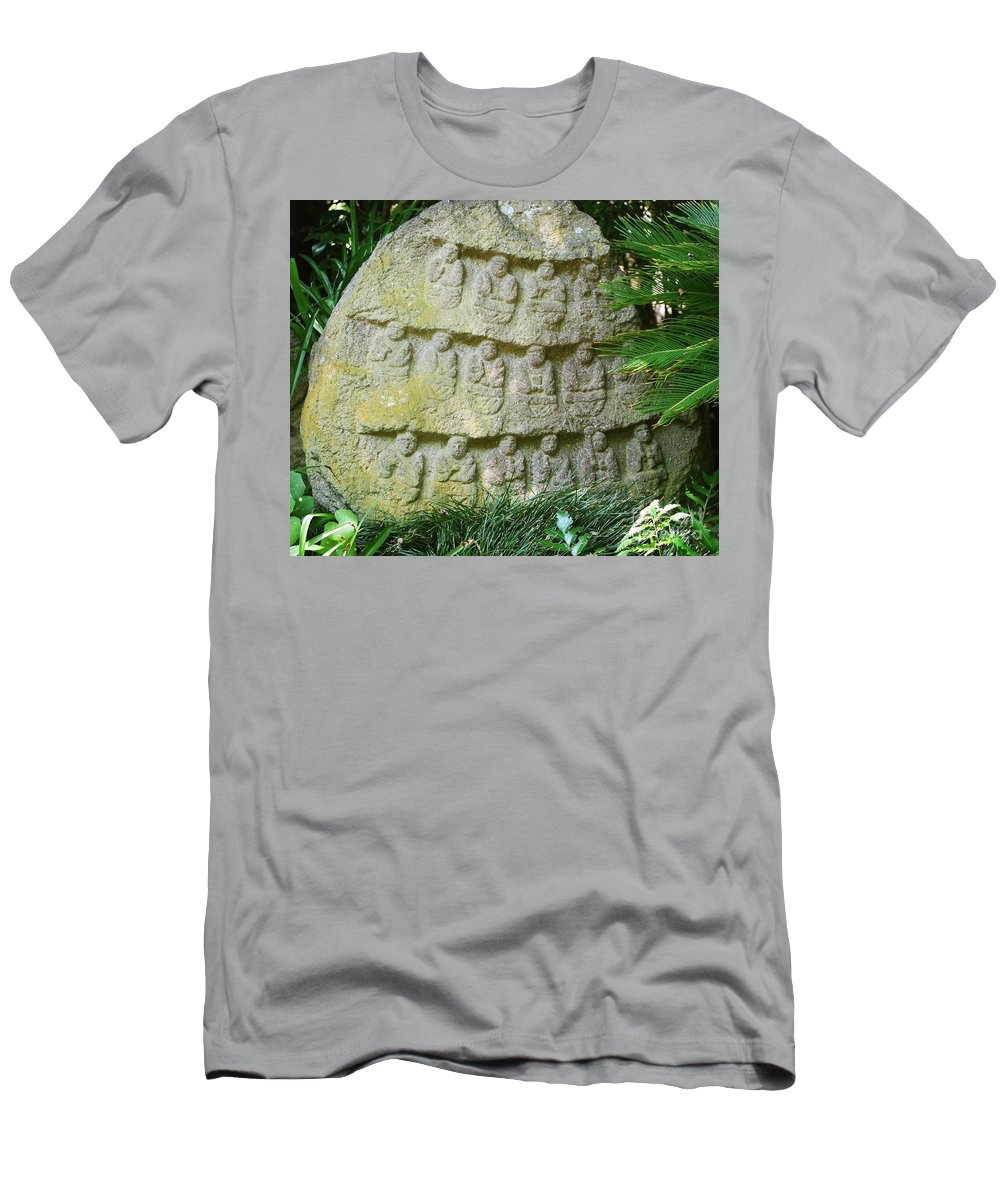 Stone Men's T-Shirt (Athletic Fit) featuring the photograph Sacred Stone by Dean Triolo