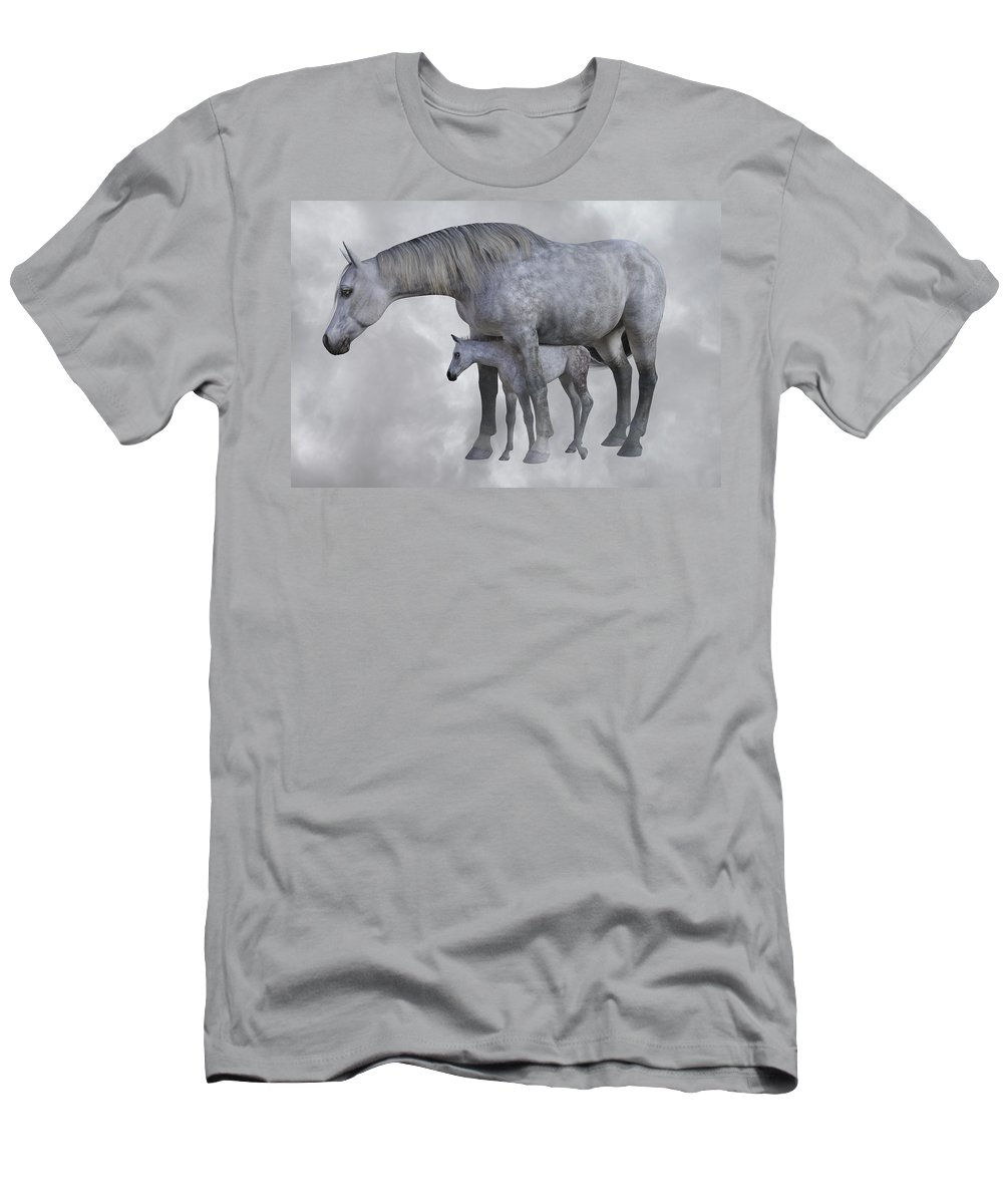 Horse Men's T-Shirt (Athletic Fit) featuring the digital art Safe Harbor by Betsy Knapp