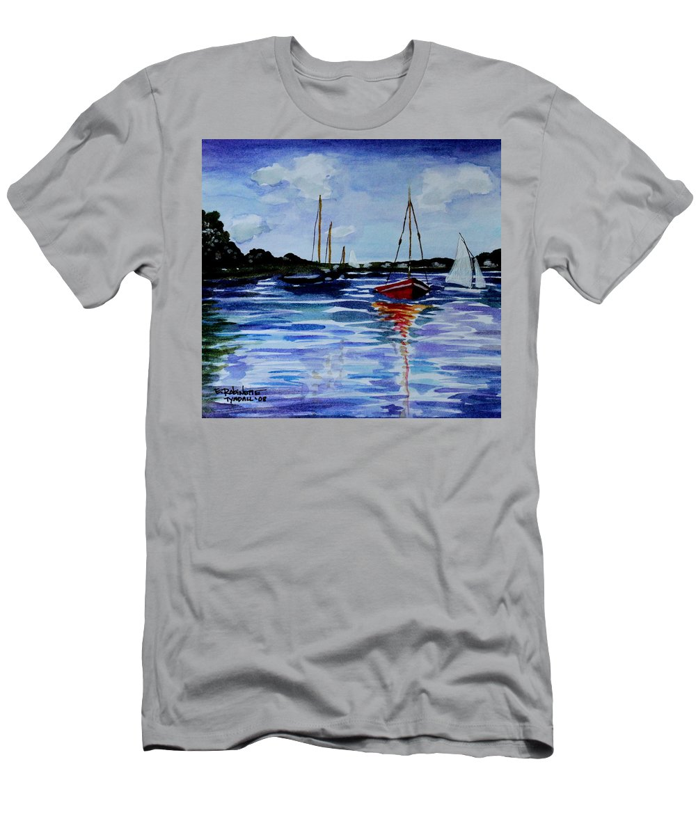 Sailing Men's T-Shirt (Athletic Fit) featuring the painting Sailing Day by Elizabeth Robinette Tyndall