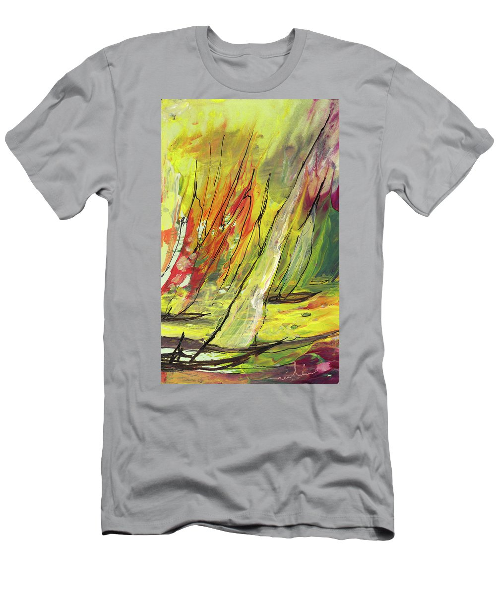 Sports Men's T-Shirt (Athletic Fit) featuring the painting Sailing Impression 04 by Miki De Goodaboom
